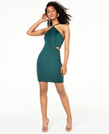 Speechless Juniors' Cutout Bodycon Dress, Created for Macy's