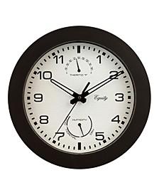 """Equity by La Crosse 10"""" Indoor/Outdoor Waylon Wall Clock"""
