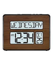 La Crosse Technology Backlight Atomic Full Calendar Digital Clock with Extra Large Digits