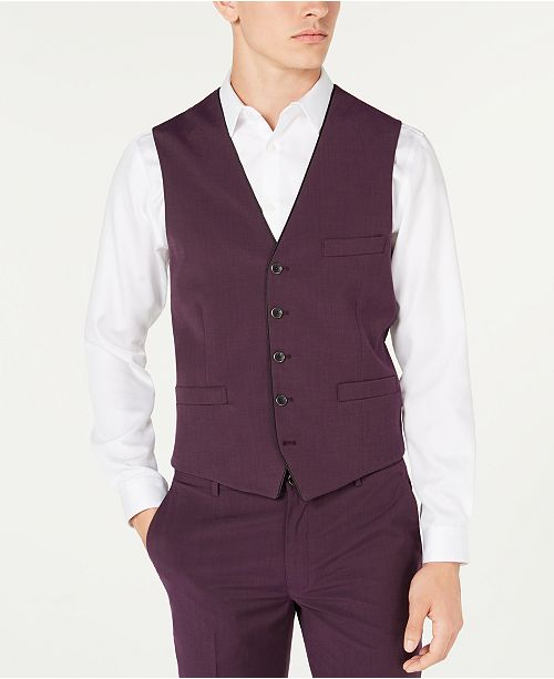 INC International Concepts INC Men's Slim-Fit Skull-Lined Vest, Created for Macy's