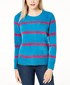 Striped Chenille Sweater, Created For Macy's