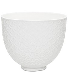 5-Qt. White Mermaid Lace Ceramic Bowl