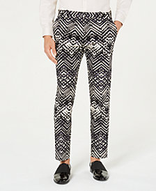 I.N.C. Men's Slim-Fit Abstract Print Pants, Created for Macy's