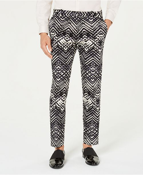 INC International Concepts INC Men's Slim-Fit Abstract Print Pants, Created for Macy's