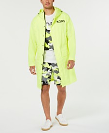 Michael Kors Men's Waterproof Neon Hooded Logo Parka, Created for Macy's