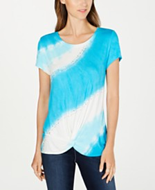 I.N.C. Twisted Tie-Dyed T-Shirt, Created for Macy's