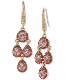 Laundry by Shelli Segal Gold-Tone Crystal & Stone Chandelier Earrings