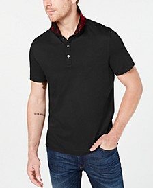 Men's Greenwich Intarsia Logo Collar Liquid Cotton Polo Shirt