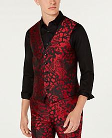 INC Men's Slim-Fit Animal Print Vest, Created for Macy's