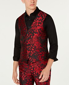 I.N.C. Men's Slim-Fit Animal Print Vest, Created for Macy's