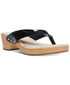 Madden Girl Saassy Wooden Flip Sandals
