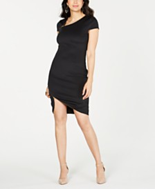 Thalia Sodi Zipper-Trim Bodycon Dress, Created for Macy's