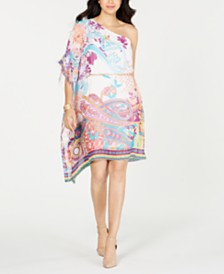 Thalia Sodi One-Shoulder Scarf Dress, Created for Macy's