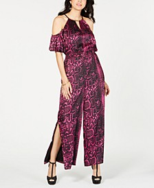Cold-Shoulder Jumpsuit, Created for Macy's