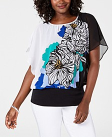 Printed Banded-Hem Top, Created for Macy's