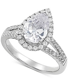 Lab Grown Diamond Pear Engagement Ring (2 ct. t.w.) in 14k White Gold