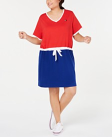 Tommy Hilfiger Plus Size Colorblocked Dress