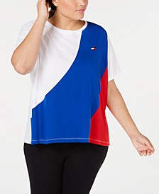 Plus Size Colorblocked T-Shirt