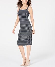 Juniors' Striped Bodycon Midi Dress