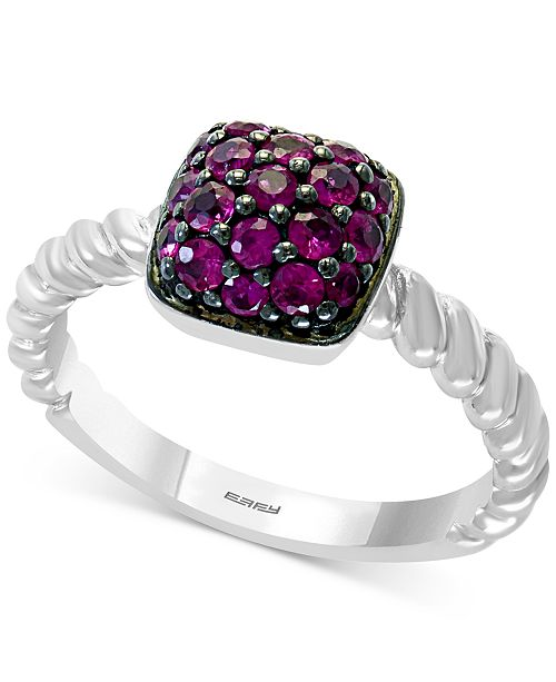 EFFY Collection EFFY® Certified Ruby Ring (5/8 ct. t.w.) in Sterling Silver