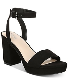 Bar III Cabey Ankle-Wrap Sandals, Created for Macy's