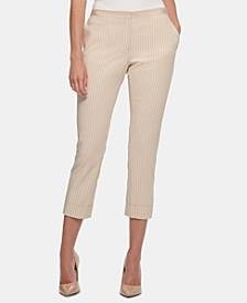 Striped Cuffed Pants