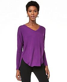 INC V-Neck Curved-Hem T-Shirt, Created for Macy's