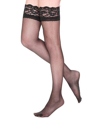 Berkshire Shaping Firm All The Way Sheer Thigh Highs Hosiery 1376