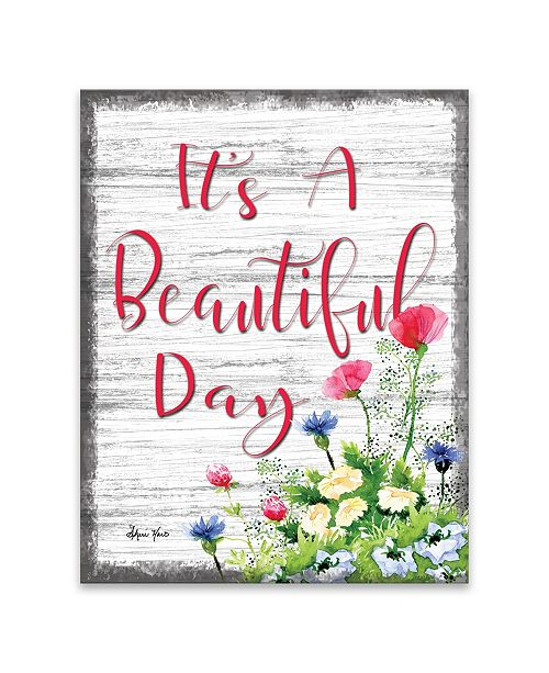 """Artissimo Designs It'S A Beautiful Day Printed Canvas Art - 11"""" W x 14"""" H x 1.25"""" D"""