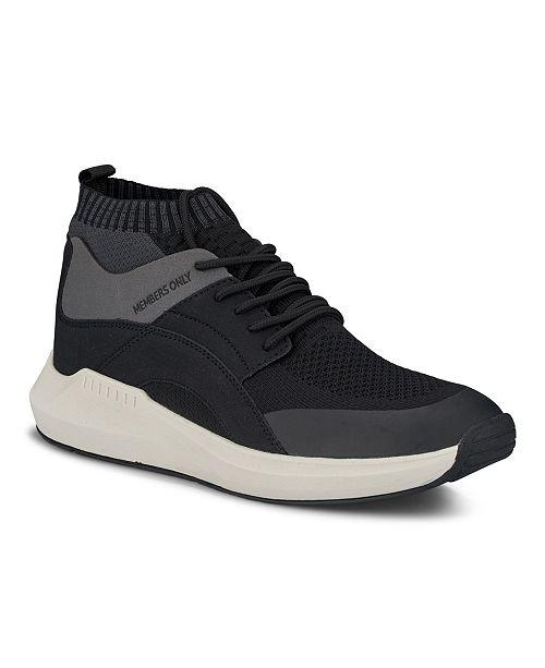 Members Only Men's Knit Sock Mesh Fashion Sneaker
