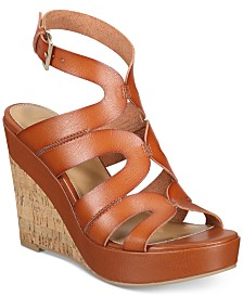 Material Girl Betssy Two-Piece Dress Sandals, Created for Macy's