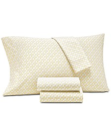 Supima Cotton 550-Thread Count Scroll-Print Sheet Sets, Created for Macy's