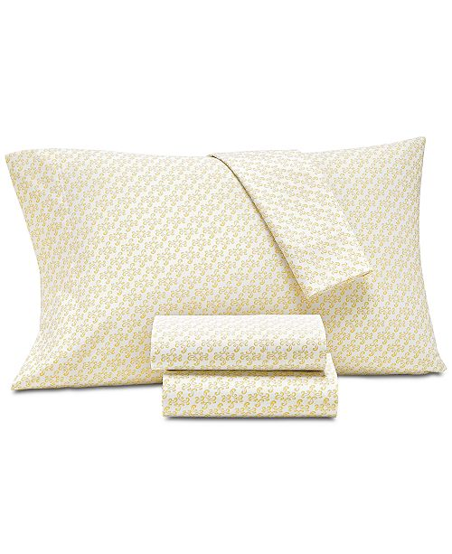 Charter Club Supima Cotton 550-Thread Count 4-Pc. Scroll-Print California King Extra Deep Sheet Set, Created for Macy's