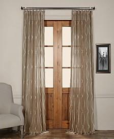 "Grecian Printed Sheer 50"" x 108"" Curtain Panel"