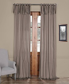 """Exclusive Fabrics & Furnishings Solid Cotton Tie-Top 50"""" x 96"""" Curtain Panel"""
