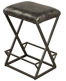 Kenwell Backless Non-Swivel Bar Height Stool