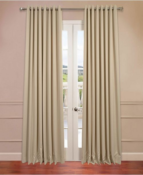 exclusive fabrics furnishings grommet extra wide blackout 100 x 84 curtain panel reviews window treatments blinds macy s macy s