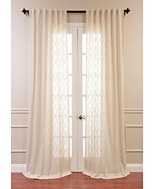 "Said Embroidered Sheer 50"" x 96"" Curtain Panel"