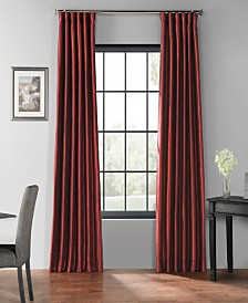 """Exclusive Fabrics & Furnishings Blackout Vintage Textured 50"""" x 84"""" Curtain Panel"""