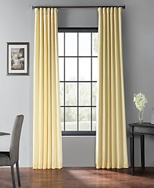 "Exclusive Fabrics & Furnishings Blackout Vintage Textured 50"" x 96"" Curtain Panel"