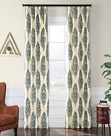 "Exclusive Fabrics & Furnishings Francesca Flocked 50"" x 108"" Curtain Panel"