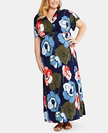 Motherhood Maternity Plus Size Nursing Maxi Dress