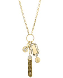 ZAXIE Fortune Favors Gold Chain Link Tassel Necklace