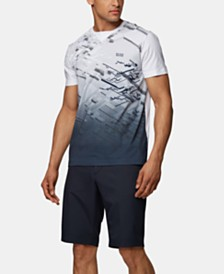 BOSS Men's Tee Iconic Degradé Cotton T-Shirt