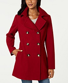 Double-Breasted Hooded Peacoat