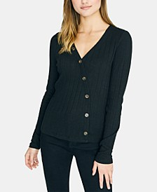 Long-Sleeve Asymmetric Button Top