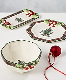 Spode Christmas Tree Figural Tartan Collection