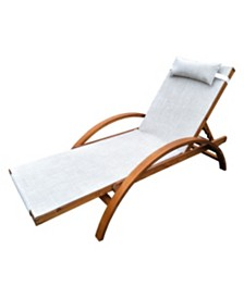 Leisure Season Reclining Sling Lounge Chair