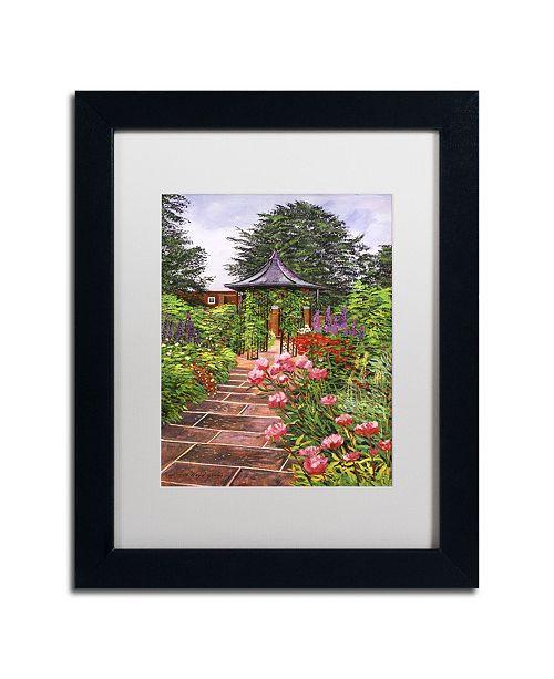 "Trademark Global David Lloyd Glover 'Carrington Garden' Matted Framed Art - 11"" x 14"""
