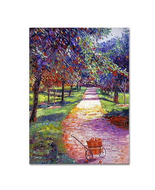"Trademark Global David Lloyd Glover 'French Apple Orchards' Canvas Art - 14"" x 19"""